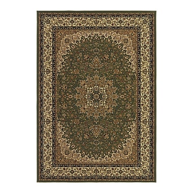 Astoria Grand Belcourt Royal Kashan Green/Brown Area Rug; 2' x 3'11''