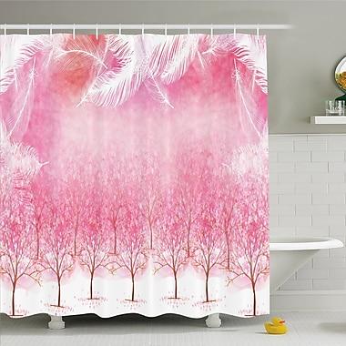 East Urban Home Hazy Japanese Cherry Blossom Trees Shower Curtain Set; 75'' H x 69'' W