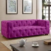 Willa Arlo Interiors Abadie Tufted Large Chesterfield Sofa; Purple