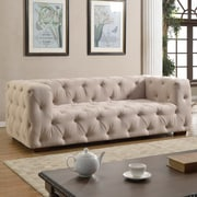Willa Arlo Interiors Abadie Tufted Large Chesterfield Sofa; Beige