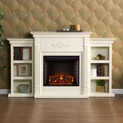 Astoria Grand Beeley Electric Fireplace; Antique Ivory