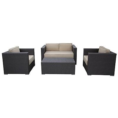 Abba Patio Wicker Patio 4 Piece Rattan Sofa Set w/ Cushions