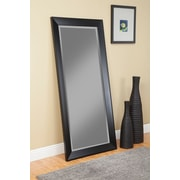 Red Barrel Studio Rectangle Contemporary Full Length Mirror; Black