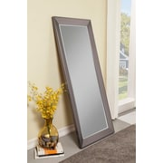 Red Barrel Studio Rectangle Contemporary Full Length Mirror; Silver