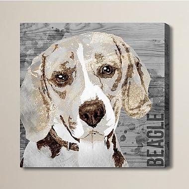 Brayden Studio 'Love My Beagle' Graphic Art on Wrapped Canvas; 16'' H x 16'' W x 1.5'' D