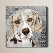 Brayden Studio 'Love My Beagle' Graphic Art on Wrapped Canvas; 20'' H x 20'' W x 1.5'' D