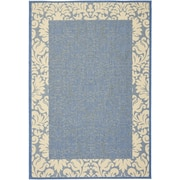 Charlton Home Marland Blue/Natural Area Rug; 6'7'' x 9'6''
