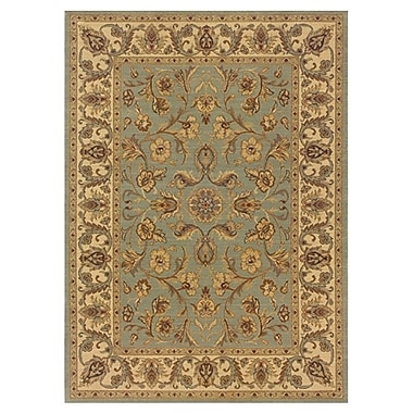 Astoria Grand Coar Blue/Ivory Area Rug; Round 9'