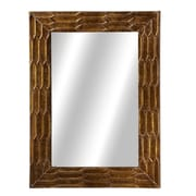 Bay Isle Home Rectangle Texture Wall Mirror
