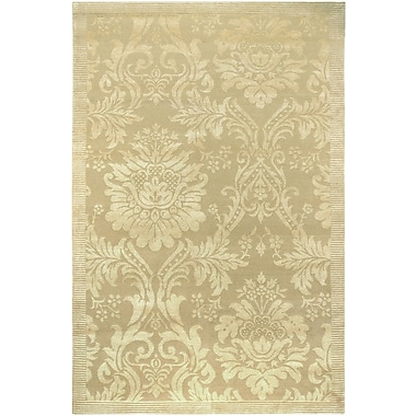 One Allium Way Osteen Hand-Knotted Gold Area Rug; 6' x 9'