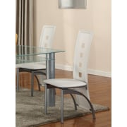 GlobalTradingUnlimited Metro Side Chair (Set of 2); White