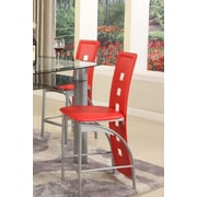 GlobalTradingUnlimited Metro Side Chair (Set of 2); Red