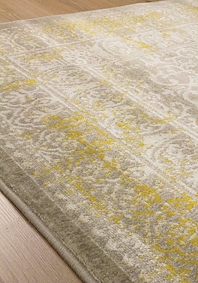 Darby Home Co Airra Gray/Gold Area Rug; 7'10'' x 10'6''