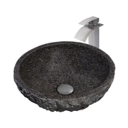 Novatto Absolute Granite Stone Circular Vessel Bathroom Sink
