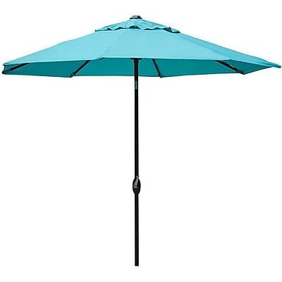 Abba Patio 9' Market Umbrella; Turquoise WYF078278353473