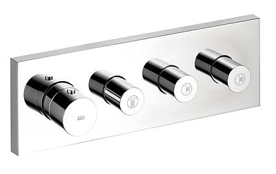 Axor Thermostatic 3 Volume Controls Shower System Trim; Chrome