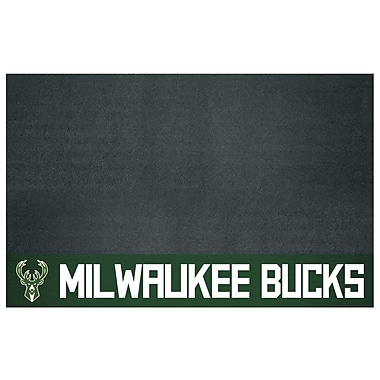 FANMATS NBA Grill Utility Mat; Milwaukee Bucks