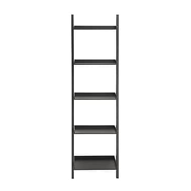 Cole & Grey Peggy 69'' Leaning Bookcase