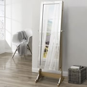 Inspired Home Co. Dazzle Full Length Jewelry Armoire w/ Mirror; Royal Champagne