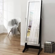 Inspired Home Co. Dazzle Full Length Jewelry Armoire w/ Mirror; Elegant Black