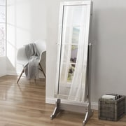 Inspired Home Co. Dazzle Full Length Jewelry Armoire w/ Mirror; Classic Silver