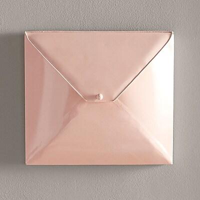 Kate and Laurel Envelope Decorative Metal Wall D cor; Pink