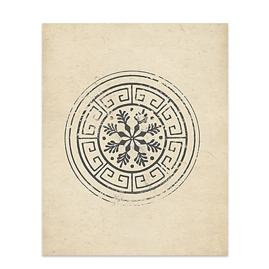 Kavka 'Flake Wheel' Graphic Art; 10'' H x 8'' W x 0.01'' D