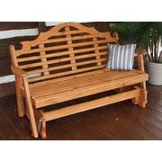 A&L Furniture Marlboro Glider Bench; Cedar