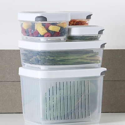 TarHong Zakarian Pro For Home 5 Container Food Storage Set; White
