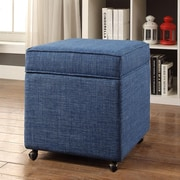 Inspired Home Co. Michael Ottoman; Blue