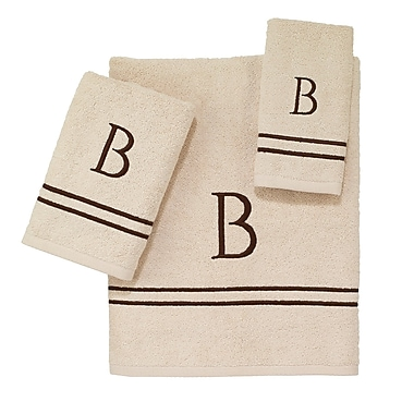 Avanti Linens Block Monogram Letter O 3 Piece Towel Set