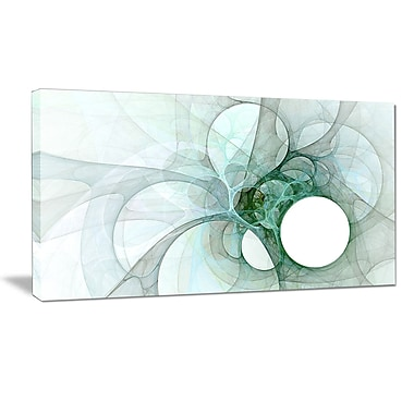 DesignArt 'White Fractal Angel Wings' Graphic Art Print on Wrapped Canvas; 20'' H x 40'' W x 1'' D