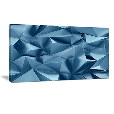 DesignArt '3D Abstract Geometric Background' Graphic Art Print on Wrapped Canvas