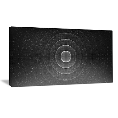 DesignArt 'Vector Interstellar Space Background' Graphic Art Print on Wrapped Canvas