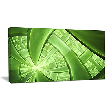DesignArt 'Green Fractal Exotic Plant Stems' Graphic Art Print on Wrapped Canvas