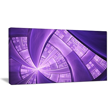 DesignArt 'Purple Fractal Exotic Plant Stems' Graphic Art Print on Wrapped Canvas