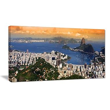 DesignArt 'Rio Landscape Panorama' Photographic Print on Wrapped Canvas; 30'' H x 40'' W x 1'' D