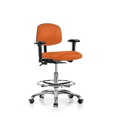 Perch Chairs & Stools Low-Back Drafting Chair; Orange Kist Vinyl