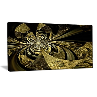 DesignArt 'Colorful Fractal Flower Pattern' Graphic Art Print on Wrapped Canvas