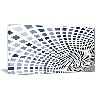 DesignArt 'Blue Square Pixel Mosaic Illustration' Graphic Art Print on Wrapped Canvas