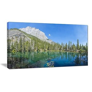 DesignArt 'Grassi Lake Canmore Alberta Canada' Photographic Print on Wrapped Canvas