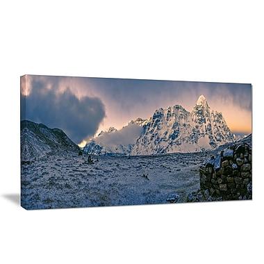 DesignArt 'Kangchenjunga Panorama' Photographic Print on Wrapped Canvas; 20'' H x 40'' W x 1'' D