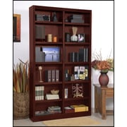 Red Barrel Studio Black Bear 84'' Standard Bookcase; Cherry
