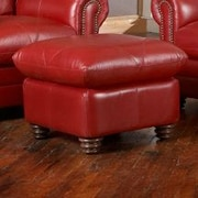 Red Barrel Studio Barnstormer Leather Ottoman