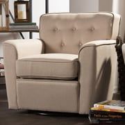 Latitude Run Kleopatros Retro Upholstered Lounge Chair; Beige