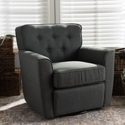 Latitude Run Kleopatros Retro Upholstered Lounge Chair; Gray