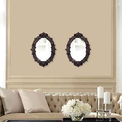 Rosalind Wheeler Doll Wall Mirror; Oil Rubbed
