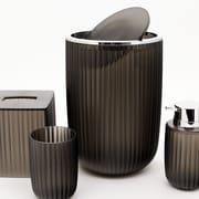 Immanuel Vienne 6-Piece Bathroom Accessory Set; Charcoal Brown