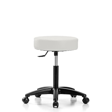 Perch Chairs & Stools Height Adjustable Swivel Stool; Adobe White Vinyl