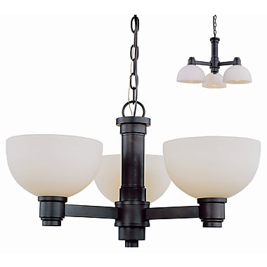 Darby Home Co Fielding 3-Light Shaded Chandelier; Dark Bronze